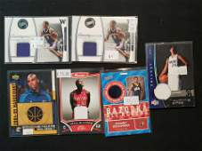 NBA BASKETBALL GAME USED JERSEY RELIC CARDS