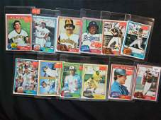 1981 VINTAGE TOPPS BASEBALL CARDS STARS AND HOFERS