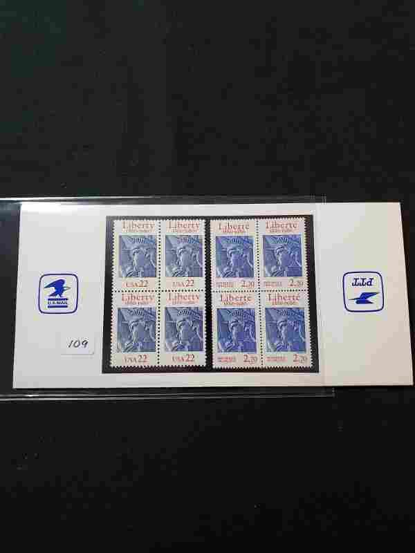 US STAMPS 1986 LIBERTY COLLECTORS CARD