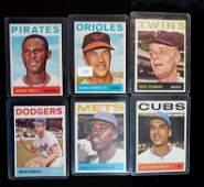 1964 TOPPS BETTER GRADE VINTAGE BASEBALL CARDS LOT
