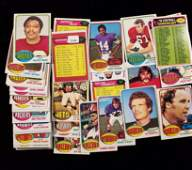 VINTAGE TOPPS FOOTBALL CARDS WITH STARS AND SEMISTARS