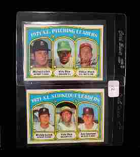 1972 TOPPS BASEBALL PITCHING LEADERS