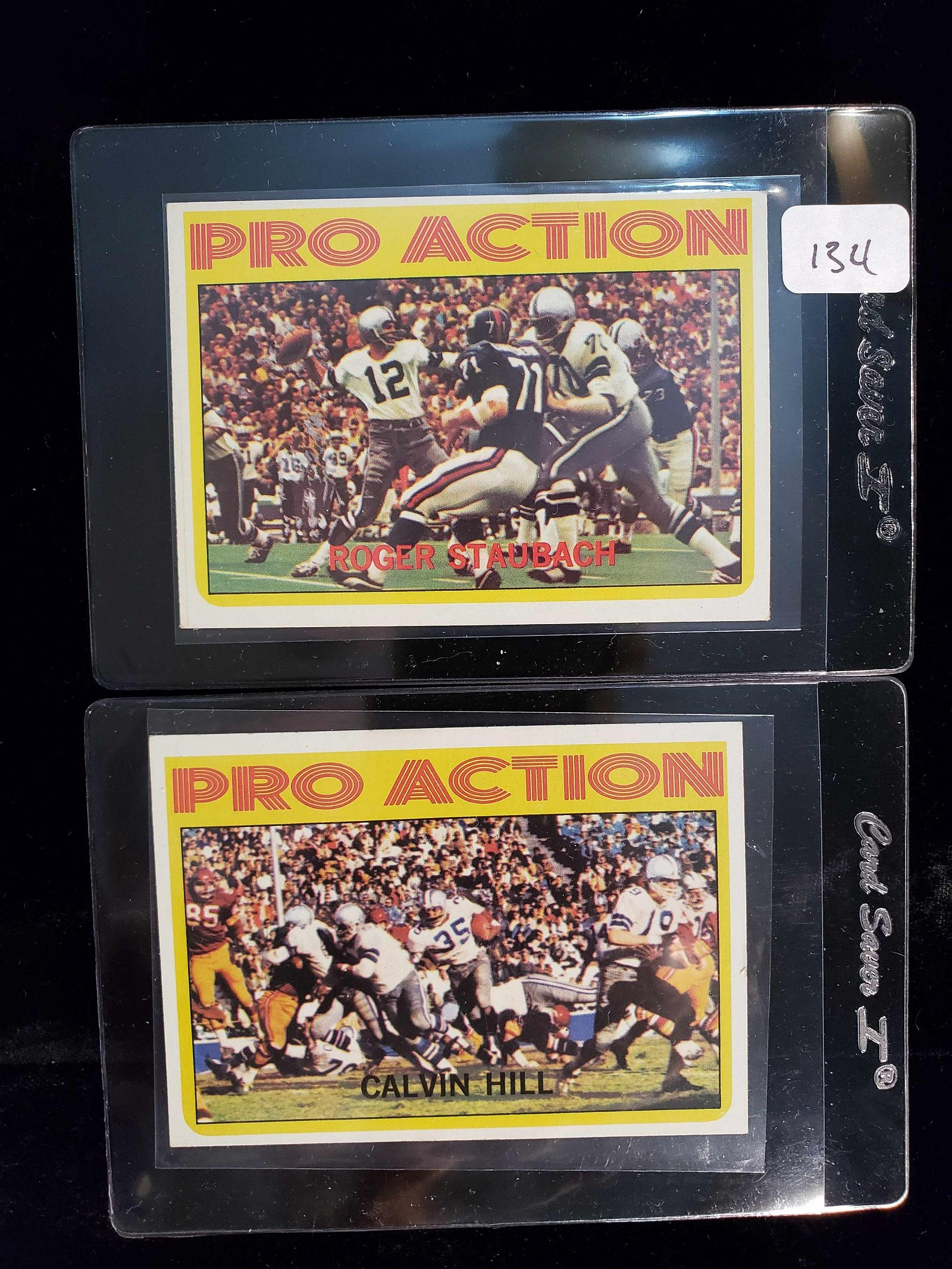 1972 TOPPS FOOTBALL PRO ACTION ROGER STAUBACH ROOKIE