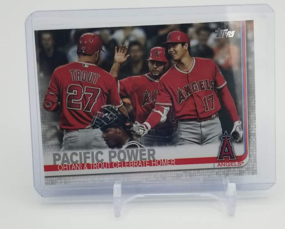 2019 Topps Update Mike Trout / Shohei Ohtani Pacific
