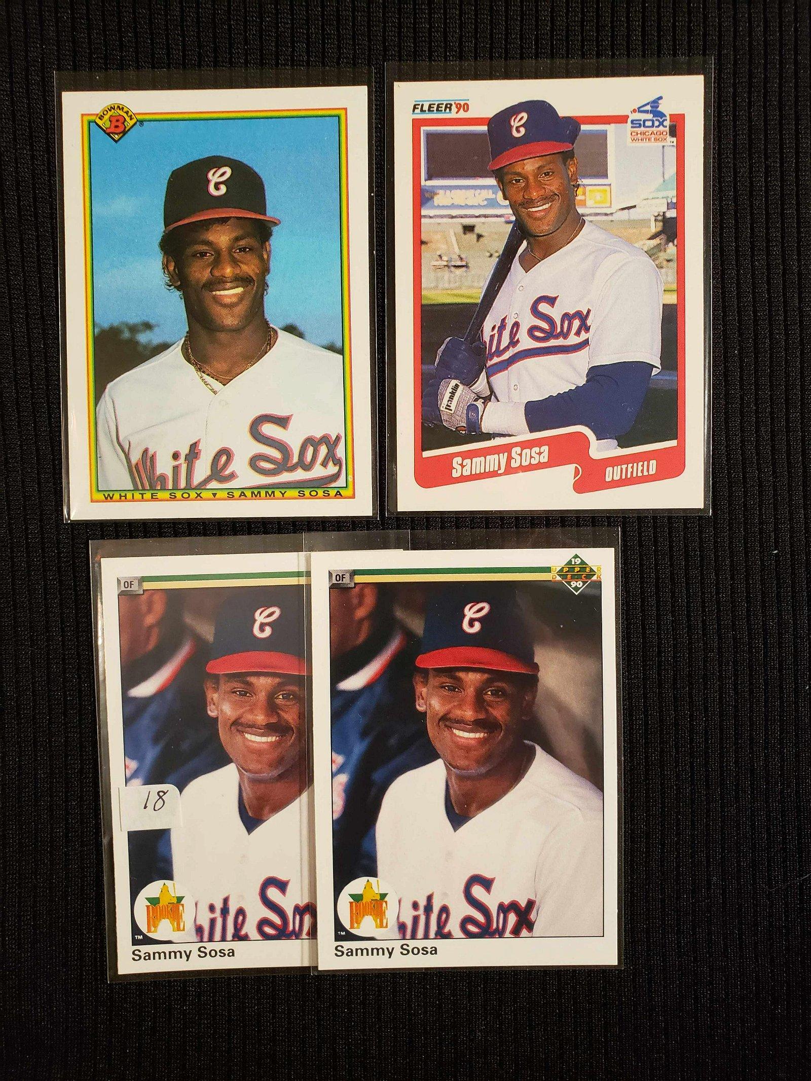 SAMMY SOSA CHICAGO BUBS ROOKIE CARDS