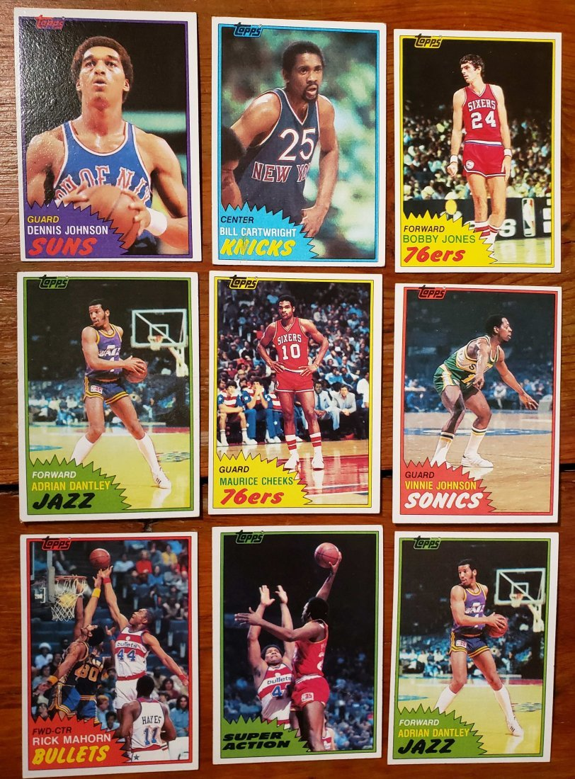 1981-82 TOPPS BASKETBALL MINT CARDS