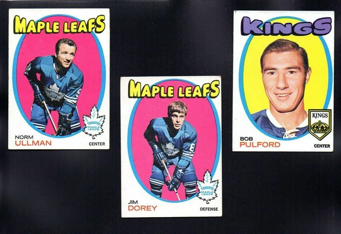 VINTAGE TORONTO MAPLE LEAF 1971-72 TOPPS HOCKEY CARDS