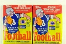 2PK 1989 TOPPS FOOTBALL CARDS
