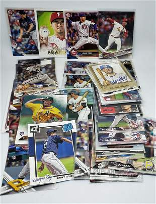 LOT OF 50 ROOKIE BASEBALL CARDS