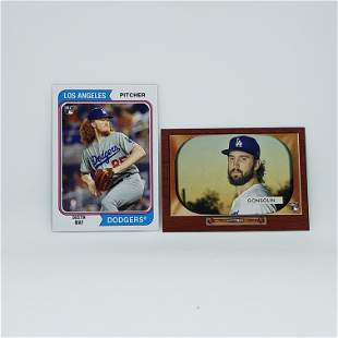 LOT OF 2 LOS ANGELES DODGERS WORLD CHAMPS ROOKIES