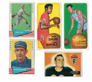 LOT OF 6 ASSORTED VINTAGE SPORTS CARDS