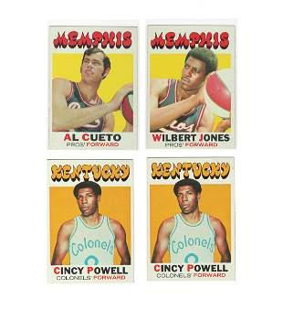 VINTAGE KENTUCY COLONELS & MEMPHIS PROS ABA CARDS