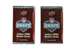 (2PK) 2009 UPPER DECK NFL DRAFT SEALED PACKS