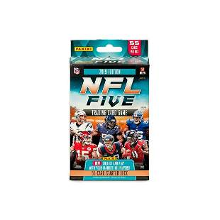 2019 PANINI-NFL FIVE TCG STARTER DECK BOX WITH PLAY MAT