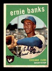 1959 Topps #350 Ernie Banks Chicago Cubs HOF EX