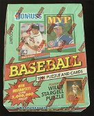 1991 DONRUSS BASEBALL SERIES 1 WAX BOX-36 PACKS