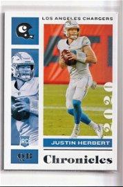 JUSTIN HERBERT NFL ROY ROOKIE CARD