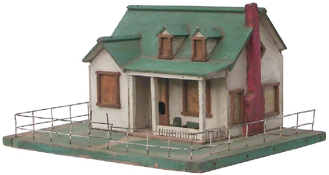 Very Detailed folk art model house birdhouse