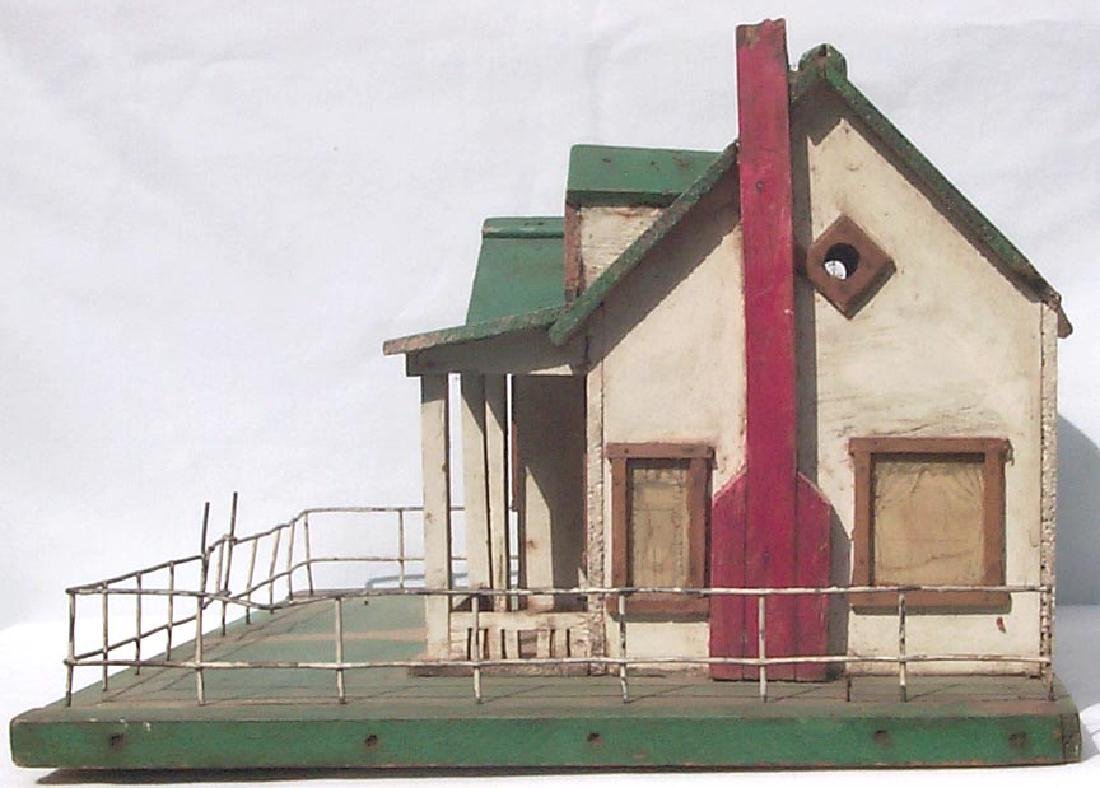 Very Detailed folk art model house birdhouse - 2