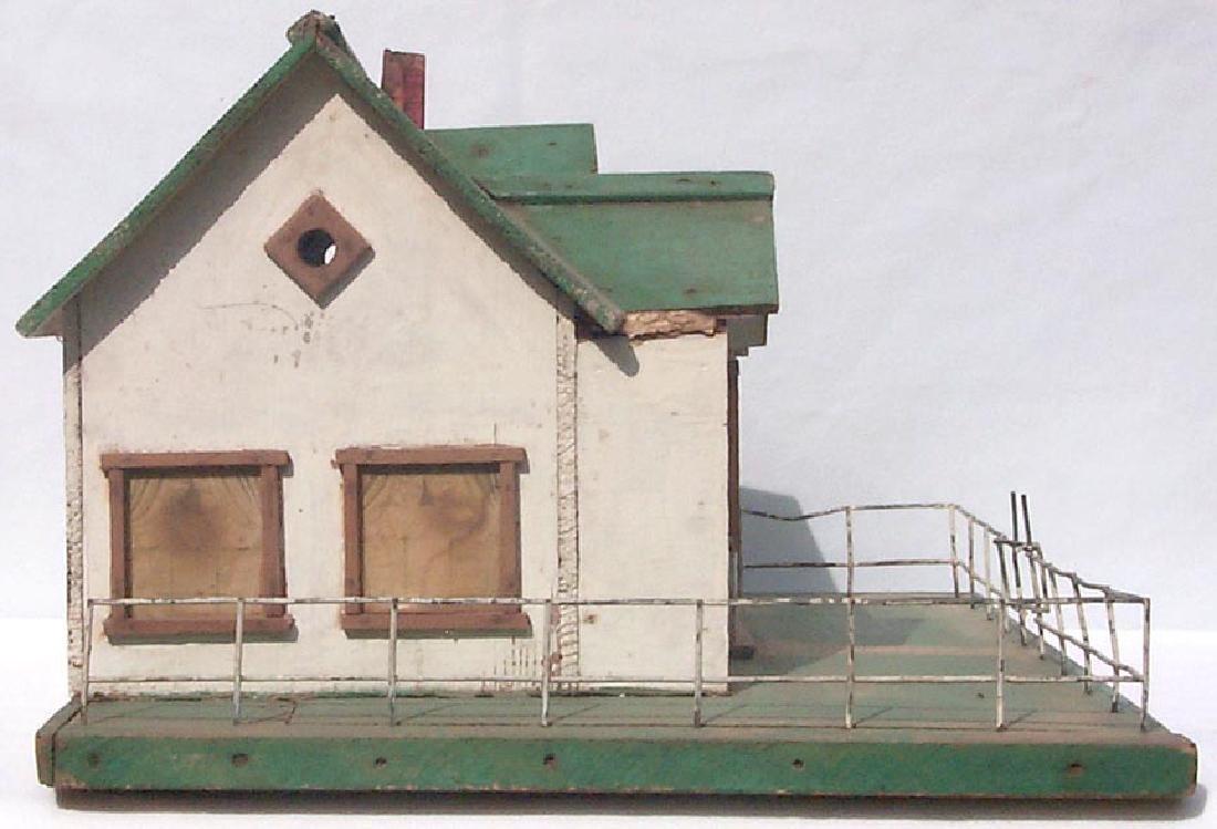 Very Detailed folk art model house birdhouse - 3