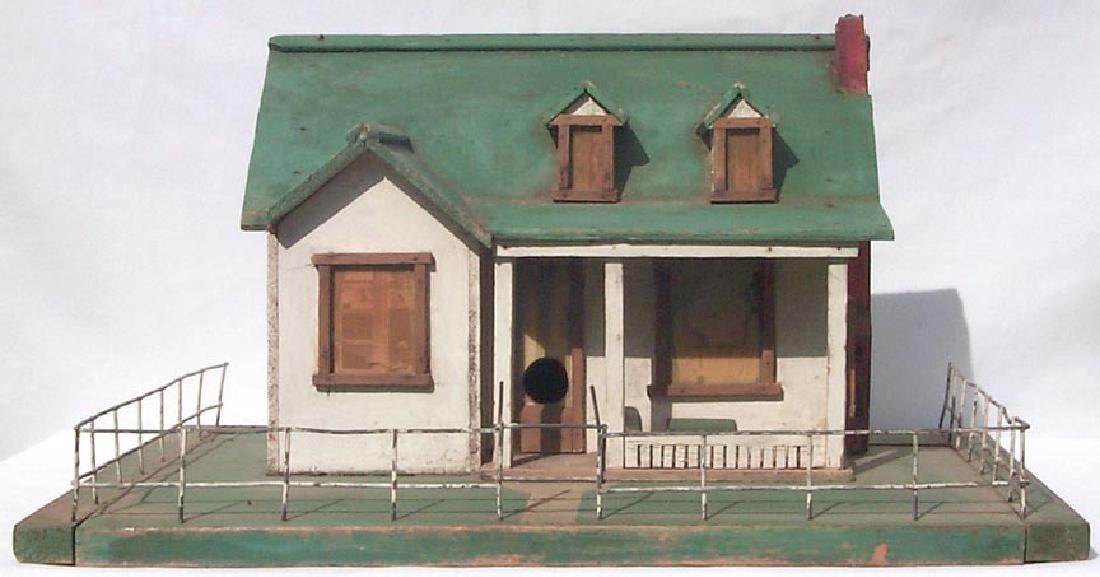 Very Detailed folk art model house birdhouse - 4