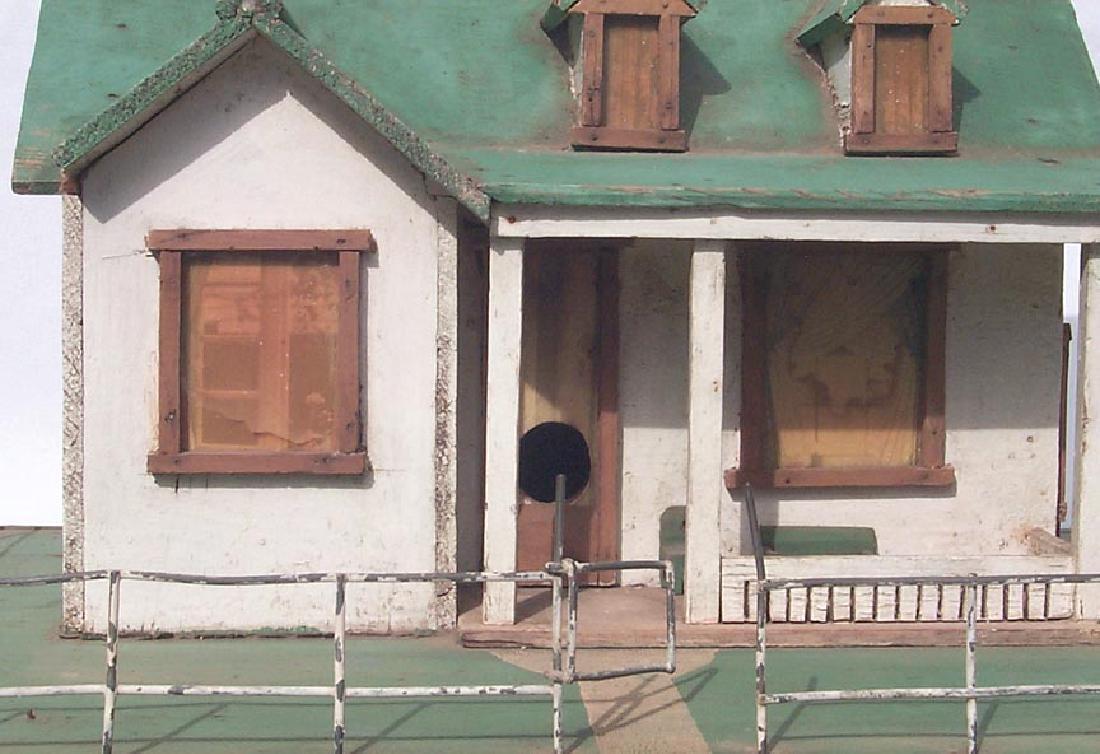 Very Detailed folk art model house birdhouse - 8