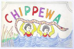Lewis Smith Outsider Art: Chippewa