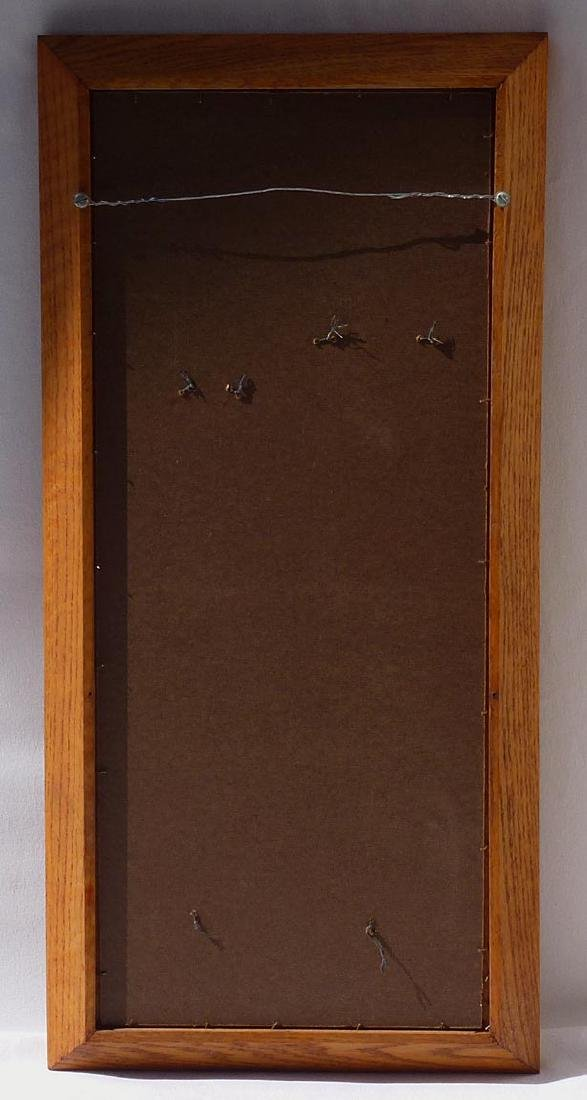 Framed set of 2, 19th c.  wrought iron eel spears . - 5
