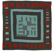 Great abstract Folk Art Quilt. Strong graphics