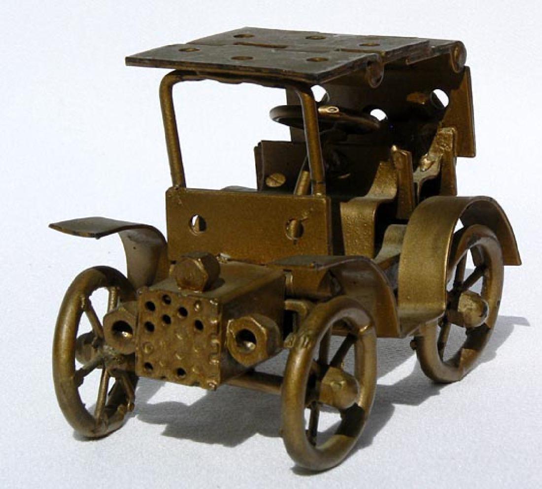 Small Folk Art metal model of an antique car - 2