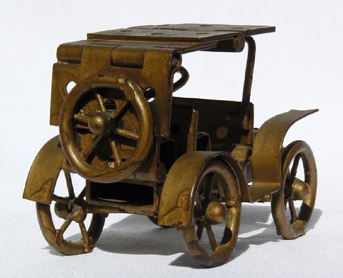 Small Folk Art metal model of an antique car - 5