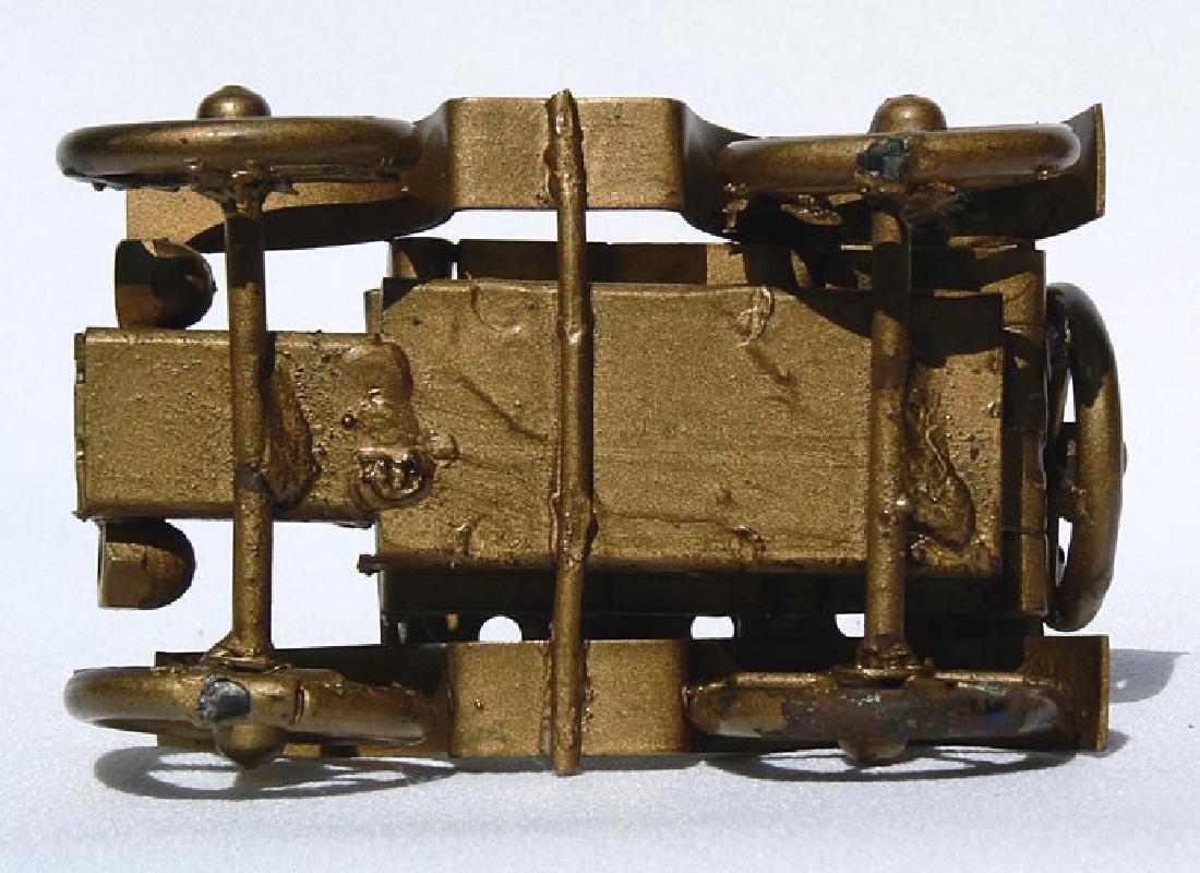 Small Folk Art metal model of an antique car - 7