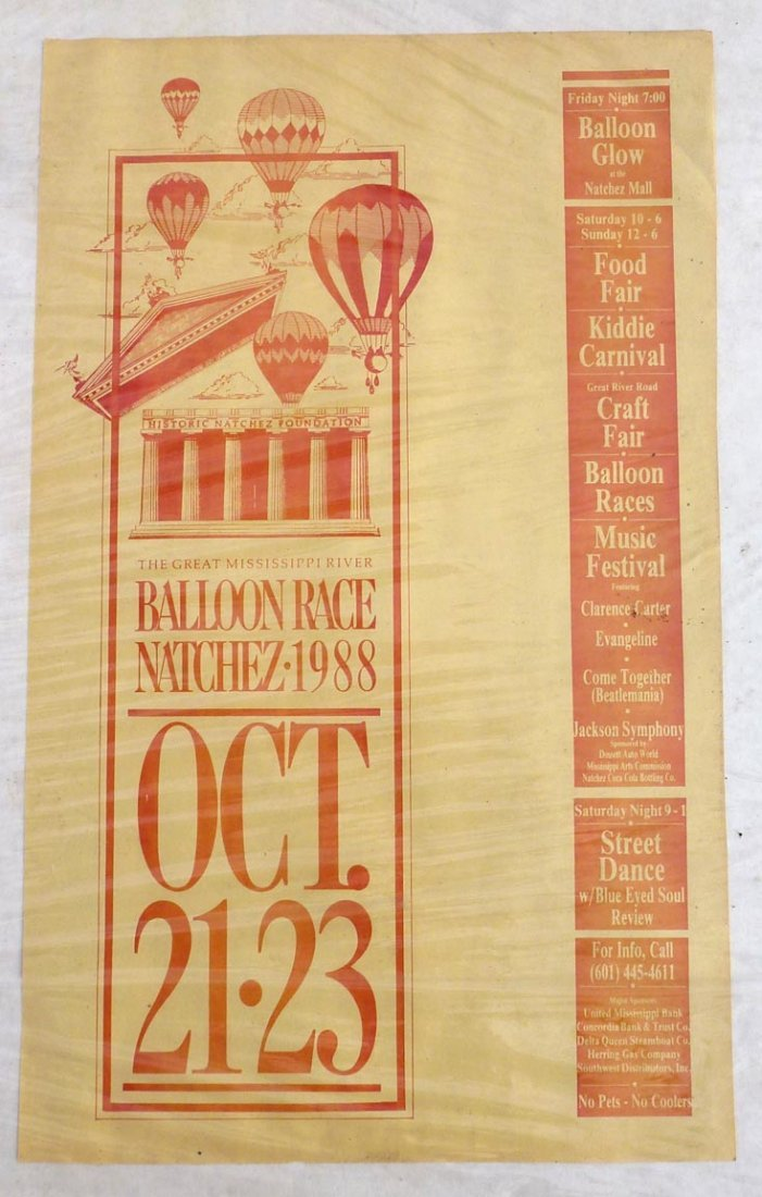 Poster for the Great Mississippi River Balloon Race
