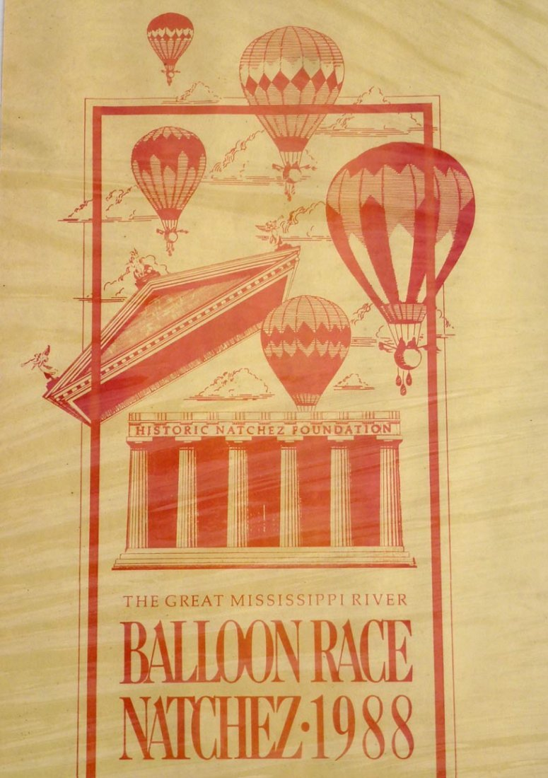 Poster for the Great Mississippi River Balloon Race - 2
