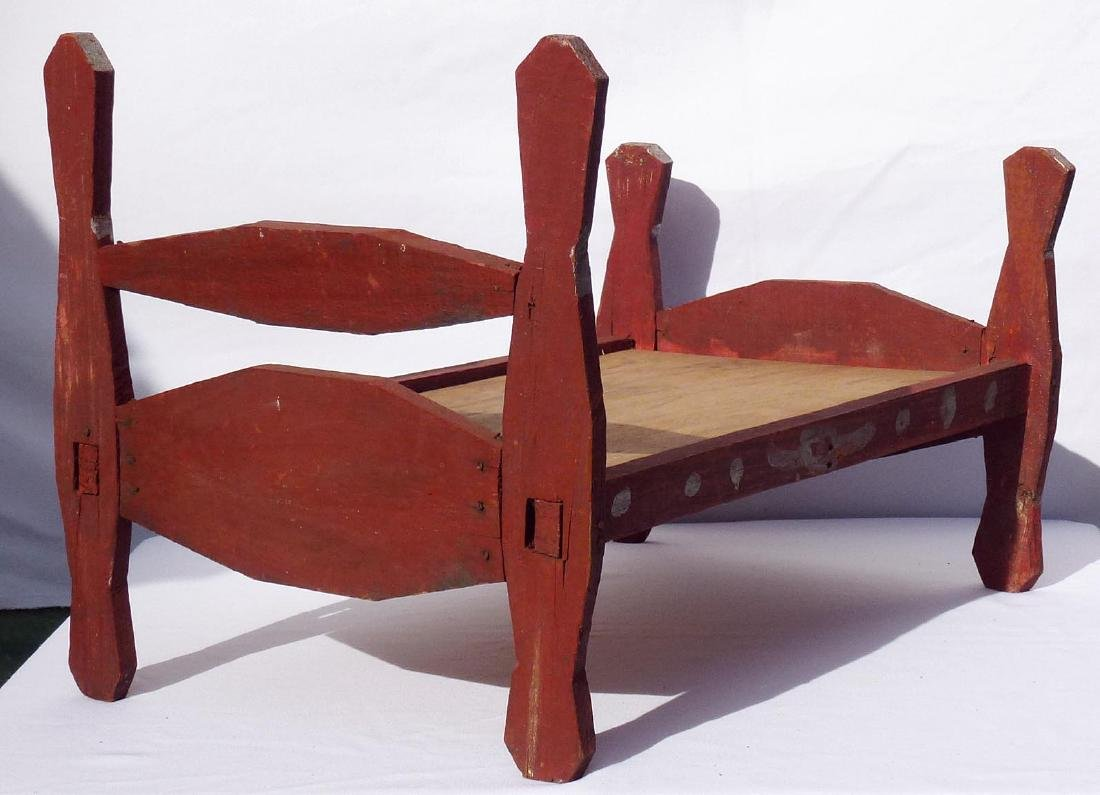 1 of 2 two African-American doll's beds - 5