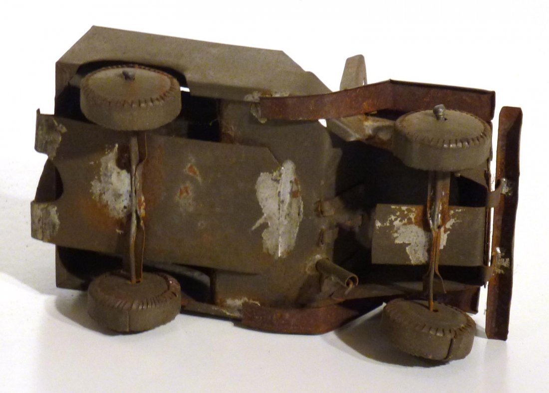Trench art  P.O.W.  jeep and tank & 2nd  tank - 7
