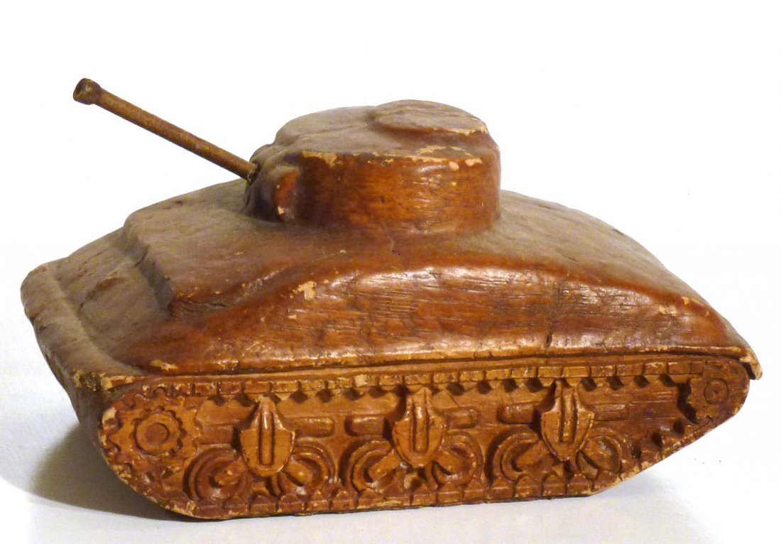 Trench art  P.O.W.  jeep and tank & 2nd  tank - 9