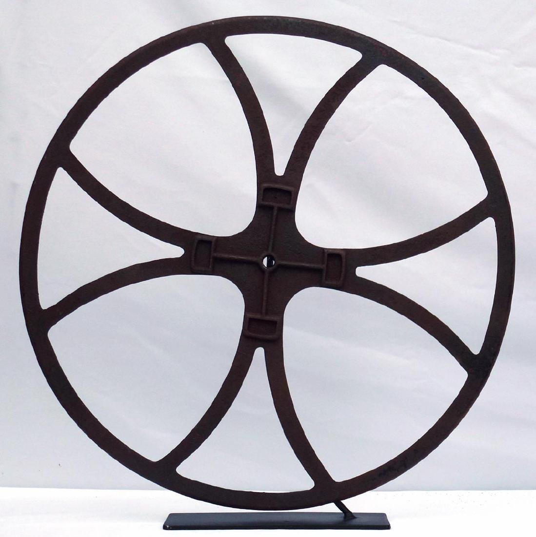 Large Cast iron industrial fire truck hose reel - 2