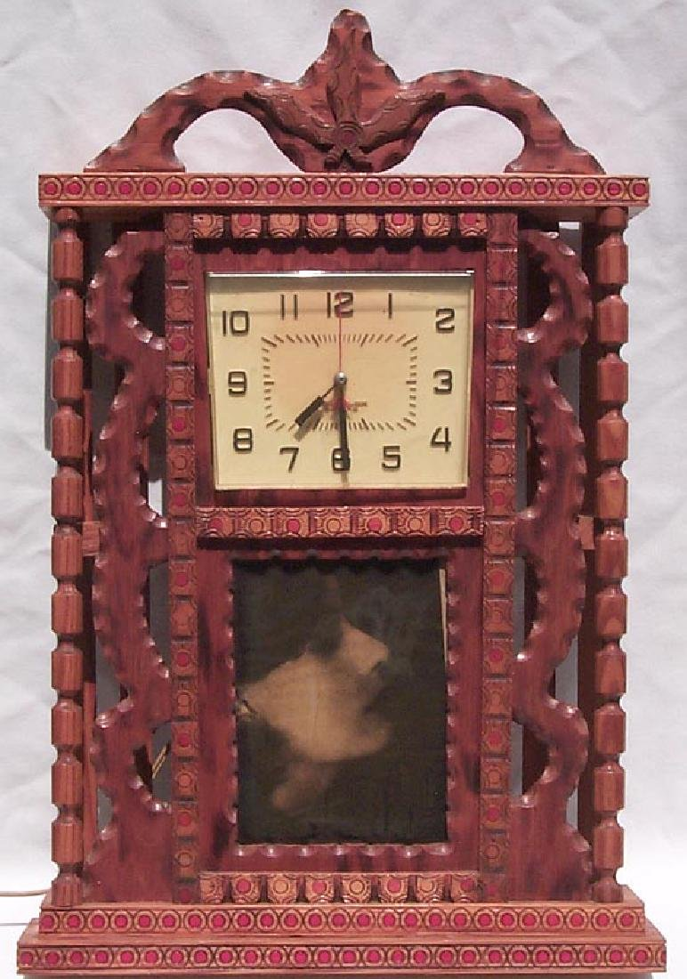 Outsider Art Howard Finster Folk Art Clock Case