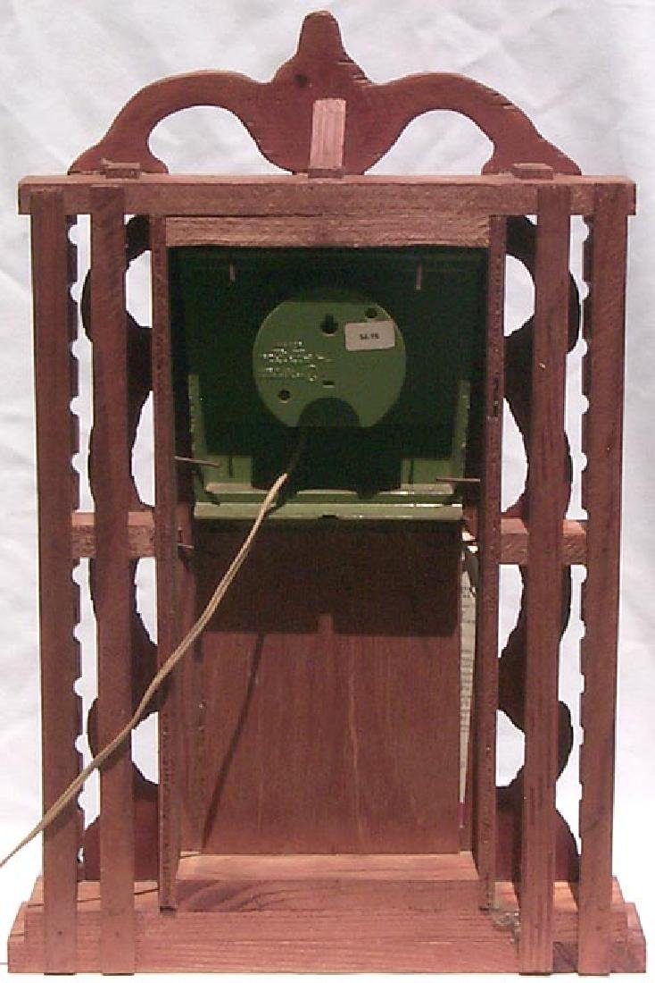 Outsider Art Howard Finster Folk Art Clock Case - 8
