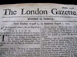 British Revolutionary War Era Newspaper