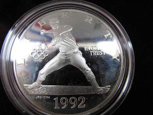 1992 Olympic Two-Coin Proof Set