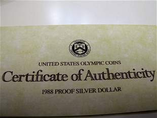 1988s Olympic Proof Silver Dollar