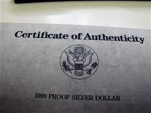 1990p Eisenhower Proof Silver Dollar