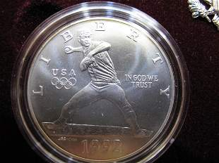 1992d Olympic Two-Coin Uncirculated Set