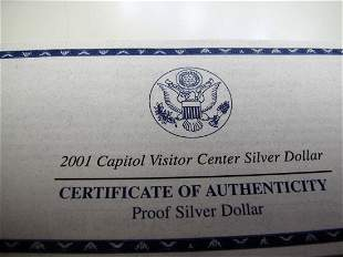 2001p Capital Visitor Center Proof Silver Dollar