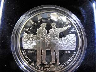 2004p Lewis & Clark Bicentennial Proof Silver Dollar