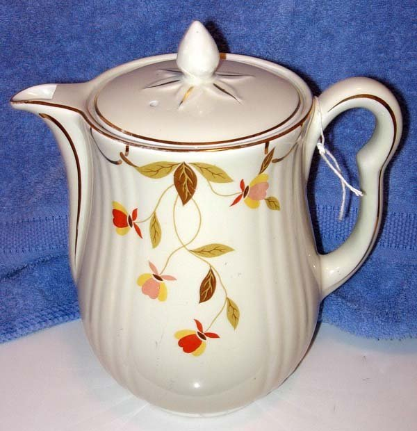 2: HALL'S JEWEL TEA AUTUMN LEAF COFFEE & TEA POT