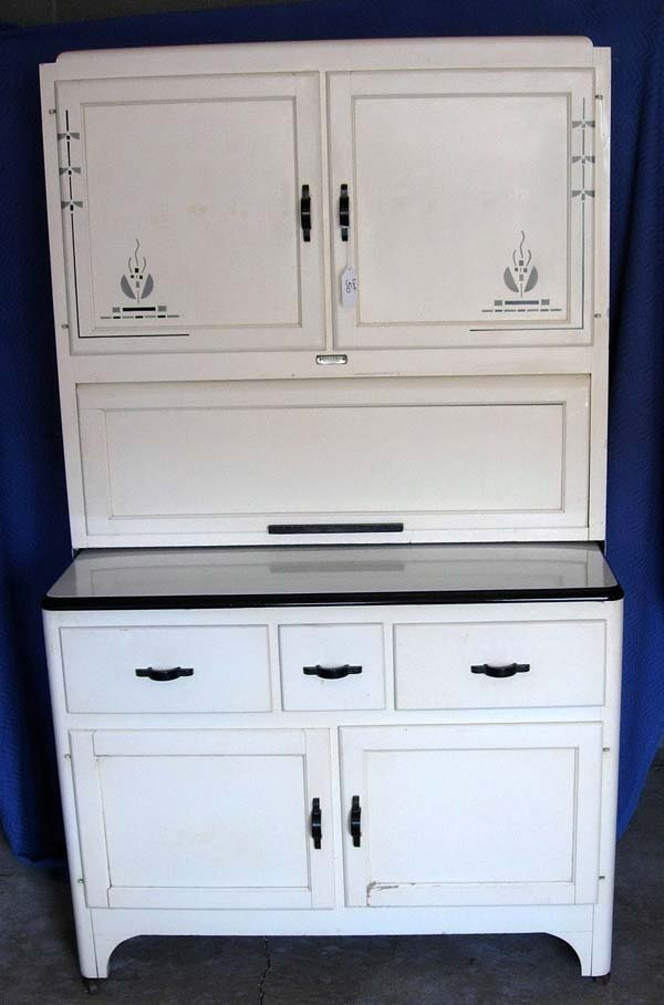 50: 1930's ART DECO KITCHEN CABINET BY SELLER'S INC.