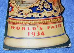 227: 1934 WORLD FAIR MENU AD BY BLATZ BEER